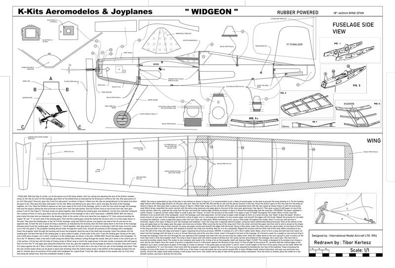 plans widgeon free flight