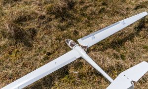 planeador RC glider crashed